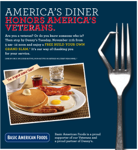 dennys-veterans-day